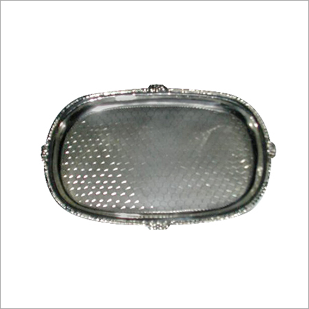 Rectangular Silver Serving Tray