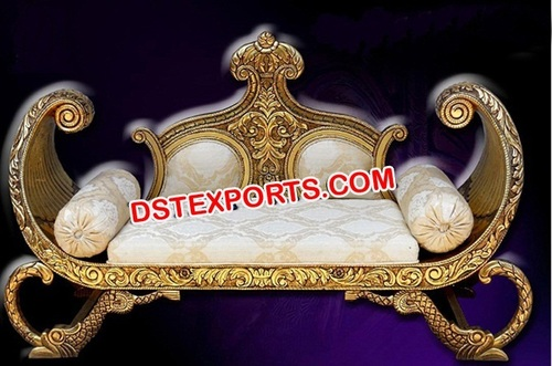 Gold Metal Maharaja Wedding Sofa