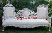 Silver Carved Wedding Sofa