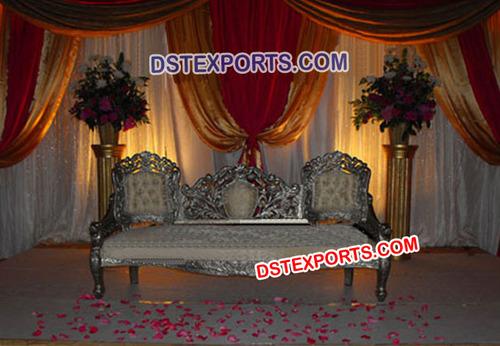 Asian Wedding Silver Victorian Sofa Set