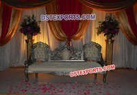 Asian Wedding Silver Victorian Sofa Set