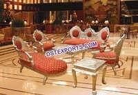 Asian Wedding Royal Victorian Sofa Set With Stool