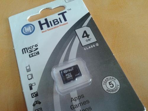 4GB HIBIT Mobile Memory