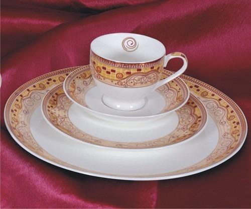 Plain White Bone China Dinnerware