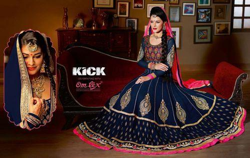 Navy Blue Designer Anarkali