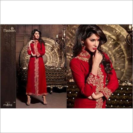Red Party Wear Designer Dress
