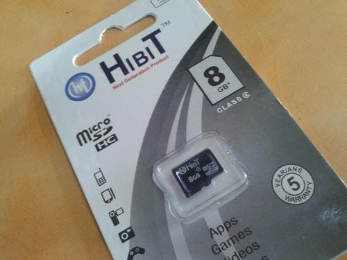 HIBIT Memory Card 8GB