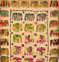 Handmade Patchwork Elephant Quilt