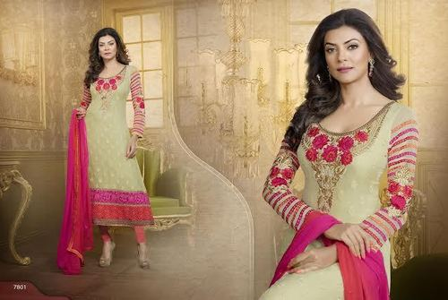 Heavy Embriodered Georgette Suit