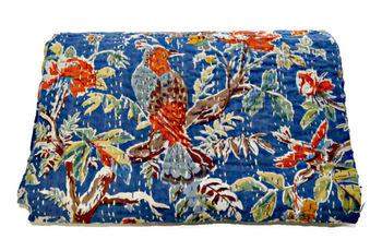 Reversible Antique Kantha Quilt