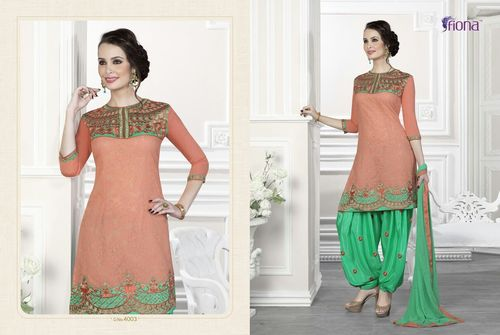 Unstitched Patiala Dress Material