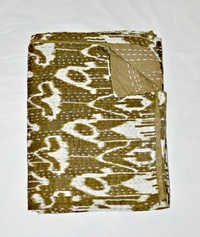Ikat Quilt in Green