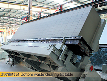 Bottom Waste Clearing Tilt Table