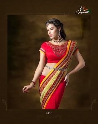 Stylish Red Pure Georgette Saree