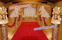 Wedding Golden Carved Style Mandap 6494
