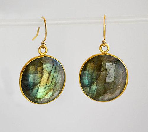Set Labradorite  Gemstone Tanglin Earring-Gold Vermeil