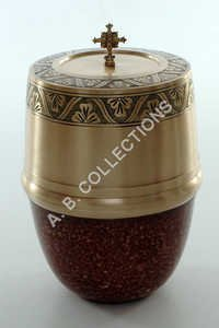 EUROPEAN TWO TONE DESIGNER URN