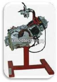 cut sectioned assembly with clutch&gear(2 Wheeler)