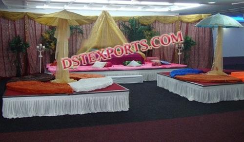 ASIAN WEDDING MEHANDI STAGES