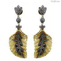 Ivory Diamond Gold Earrings