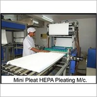 Mini Pleating Machine with Hot Melt separation