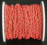 Red Coral Beaded Chain