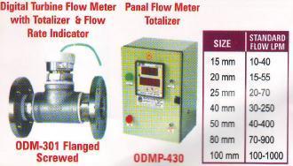 digital turbine flow meter & panel flow meter
