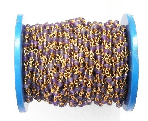 Amethyst Beaded Chain