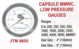 capsule mmwc low pressure guages