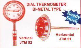 dial thermometer bi-metal type