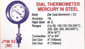 dial thermometer mercury in steel 1