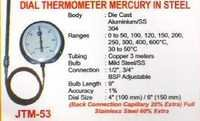 dial thermometer mercury in steel