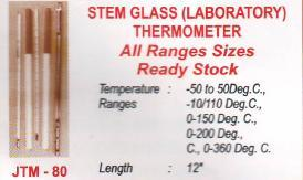 stem glass laboratory thermometer