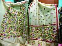 Kantha work silk suits