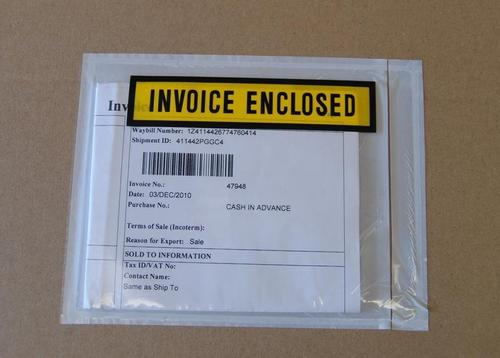 Plastic Invoice Packing Pouchs