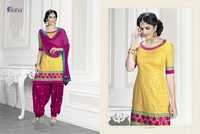 Yellow Embriodered Patiala Suit