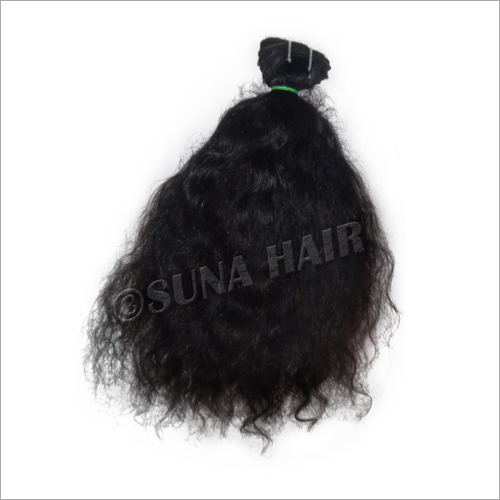 Factory price weft silky curly no chemical processed human hair