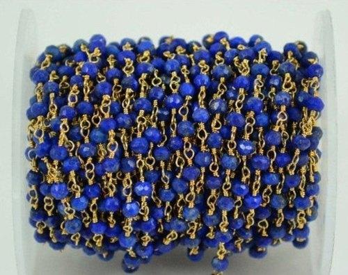 Lapis Beaded Chain