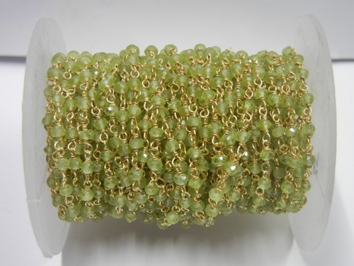 Peridot Beaded Chain