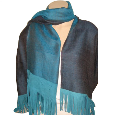 Wool Reversible with Suede Fringes