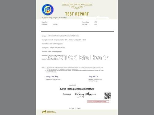 ANTI OXIDANT ALKALINE CERAMIC REPORT