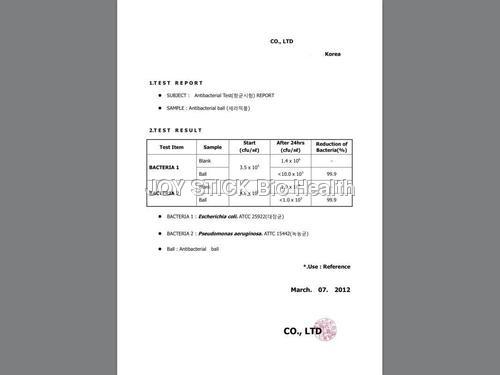 ANTI BACTERIAL CERAMIC REPORT