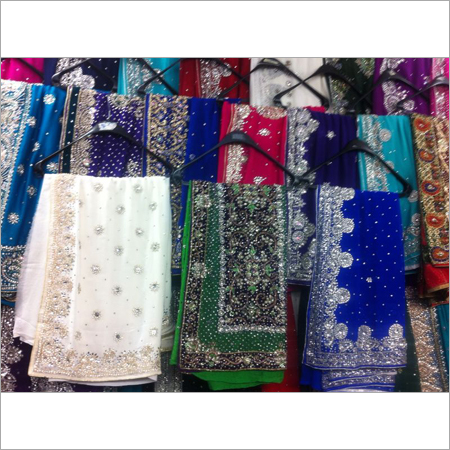 Crystal Work Embroidery Sarees
