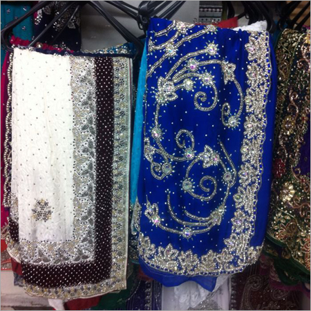 Stone Sequence Work Sarees