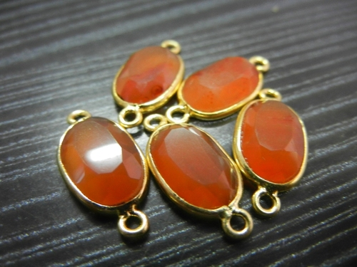 Carnelian Gemstone Connector