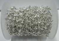 Silver Pyrite Gemstone Beaded Chain Sell Per Meter