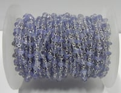 Tanzanite Gemstone Beaded Chain