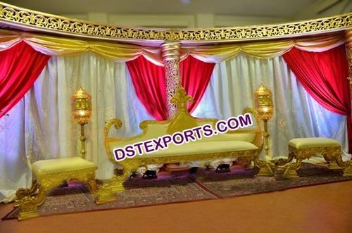 Muslim Wedding Stage King Sofa Set