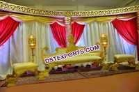 Muslim Wedding Stage King Sofa Set