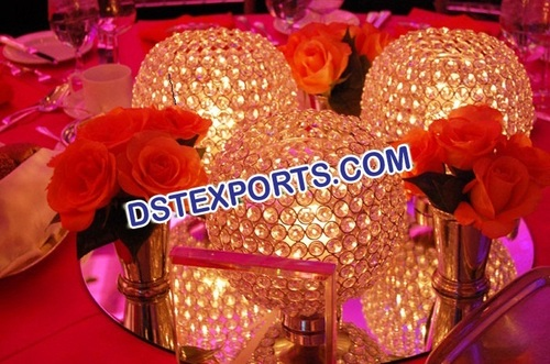 Crystal Ball Centerpieces
